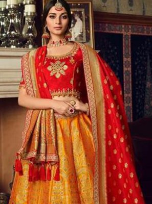 Orange Lehenga Choli