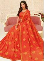 Orange Party Bollywood Saree