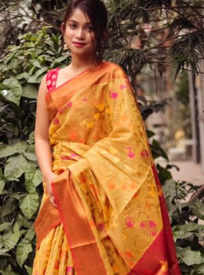 Orange Party Casual Saree