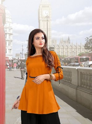 Orange Party Wear Kurti