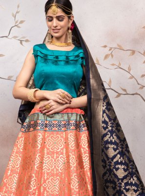 Orange Reception Lehenga Choli
