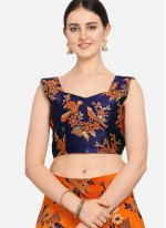 Orange Weaving Lehenga Choli