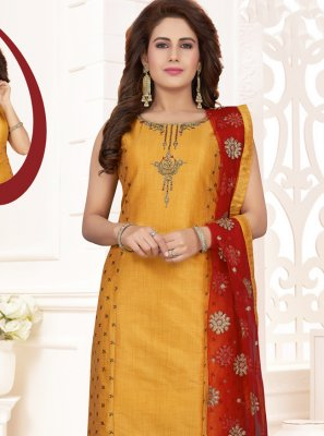 Orange Zari Salwar Kameez