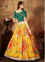 Organza Floral Print Designer Lehenga Choli