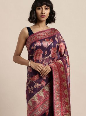 Organza Multi Colour Weaving Traditional Designer Saree
