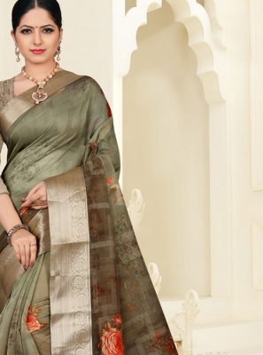 Organza Party Silk Saree