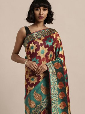 Organza Weaving Multi Colour Traditional Designer Saree