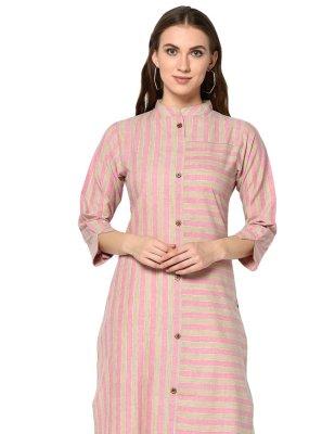 Party Wear Kurti Printed Cotton in Multi Colour