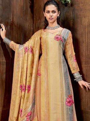 Pashmina Diamond Multi Colour Trendy Straight Salwar Suit