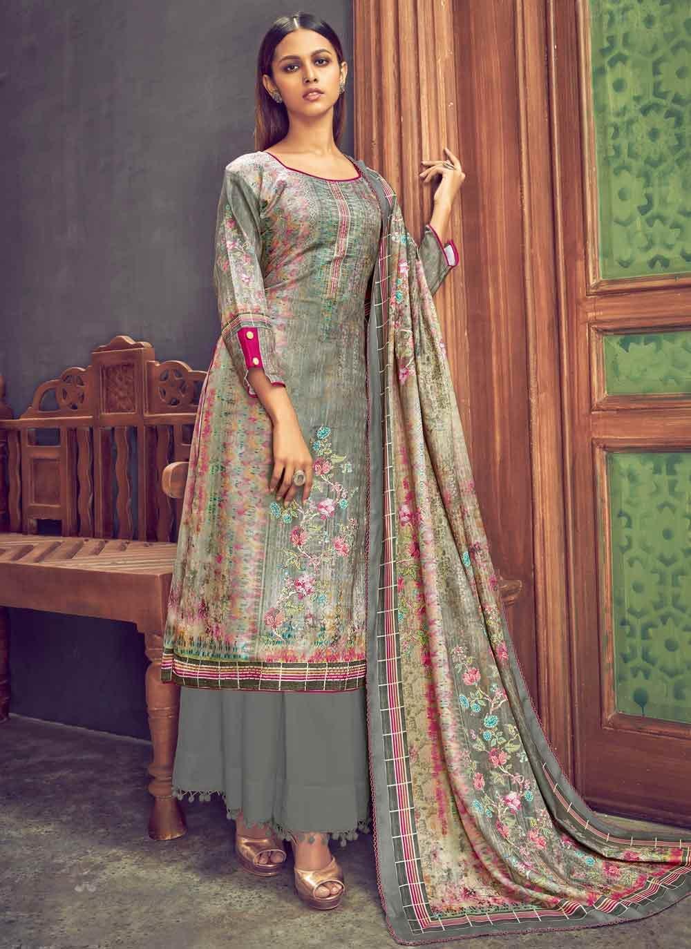 Pashmina Digital Print Designer Pakistani Salwar Suit