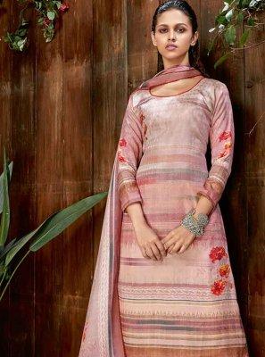 Pashmina Digital Print Multi Colour Designer Salwar Kameez