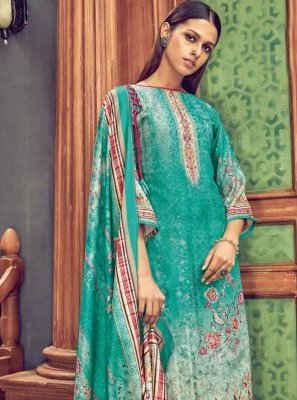 Pashmina Digital Print Multi Colour Designer Salwar Suit