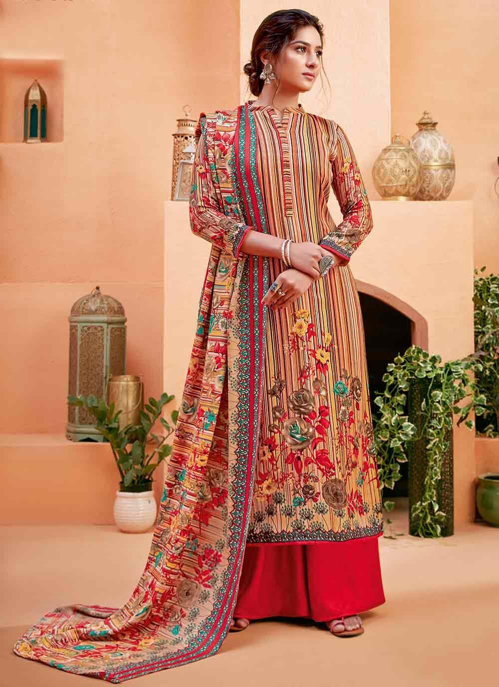 Pashmina Digital Print Trendy Suit