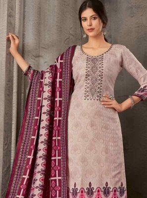 Pashmina Embroidered Purple Palazzo Suit