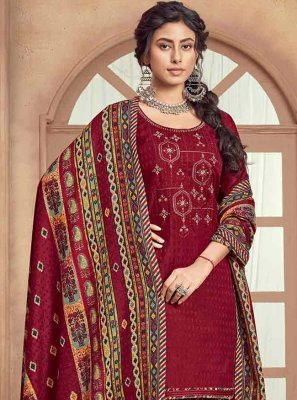Pashmina Embroidered Salwar Suit