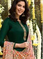 Pashmina Green Embroidered Palazzo Salwar Suit