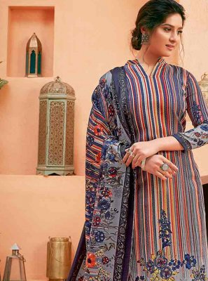 Pashmina Multi Colour Digital Print Salwar Kameez