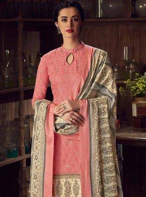 Pashmina Pink Digital Print Designer Salwar Kameez