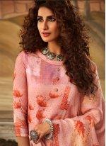 Pashmina Trendy Salwar Kameez in Peach