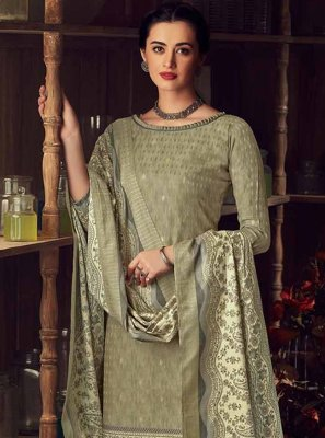 Pashmina Trendy Salwar Suit in Grey