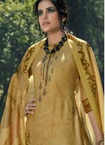 Pashmina Yellow Embroidered Palazzo Salwar Kameez