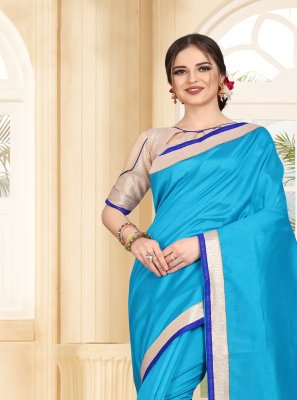 Patch Border Art Silk Bollywood Saree