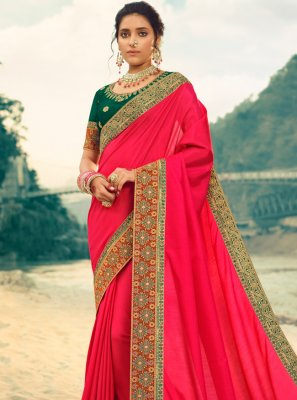 Patch Border Silk Contemporary Saree