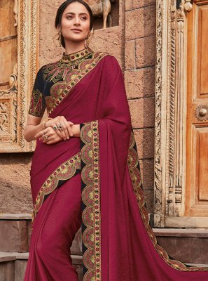 Patch Border Wedding Classic Saree
