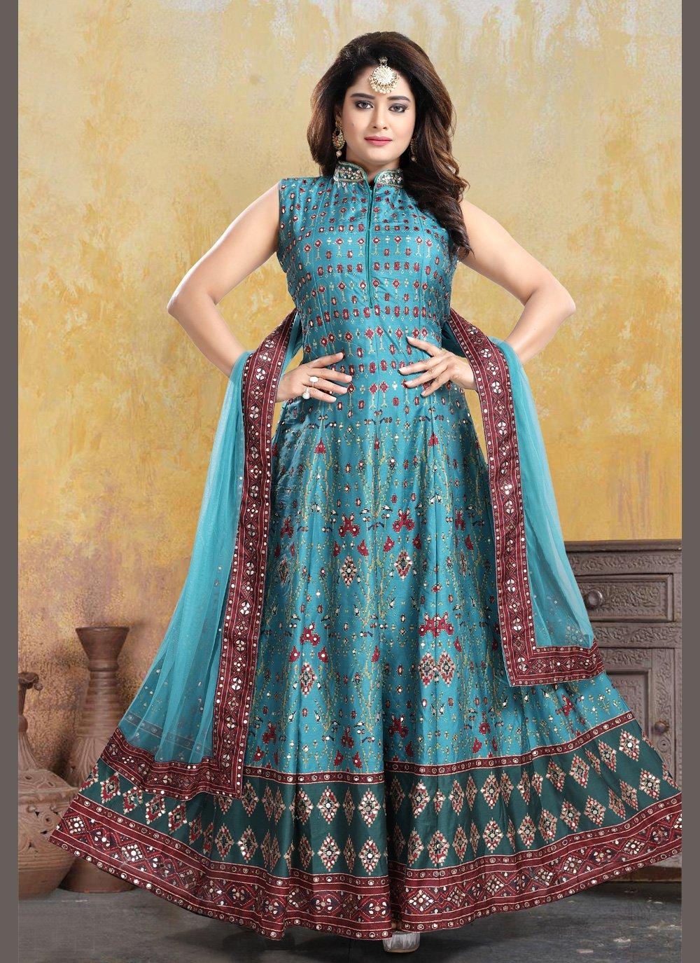 Patola Silk  Readymade Anarkali Suit
