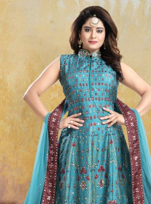 Patola Silk  Readymade Anarkali Suit