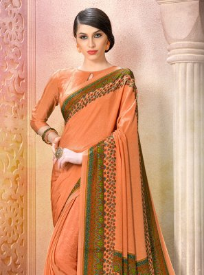 Peach Casual Saree