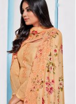Peach Chinon Party Designer Pakistani Salwar Suit