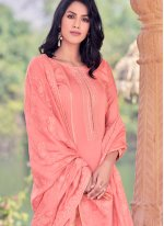 Peach Color Bollywood Salwar Kameez