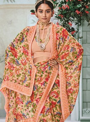 Peach Color Casual Saree