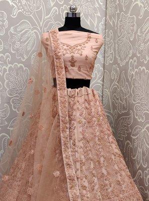 Peach Designer Lehenga Choli