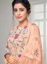 Peach Digital Print Cotton Trendy Salwar Suit
