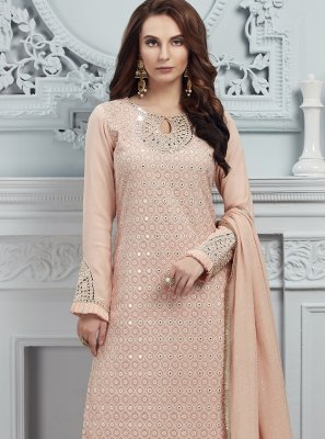 Peach Georgette Salwar Suit