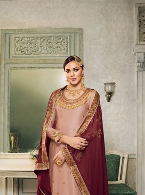 Peach Mehndi Trendy Designer Salwar Suit