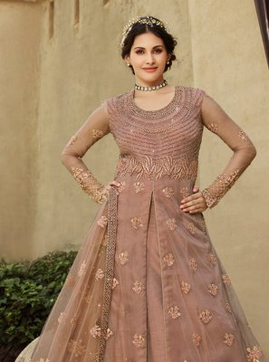 Peach Party A Line Lehenga Choli