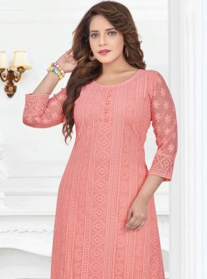Peach Party Georgette Salwar Suit