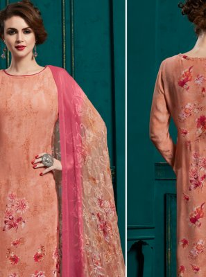 Peach Party Pakistani Salwar Kameez