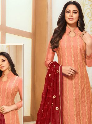 Peach Party Salwar Kameez