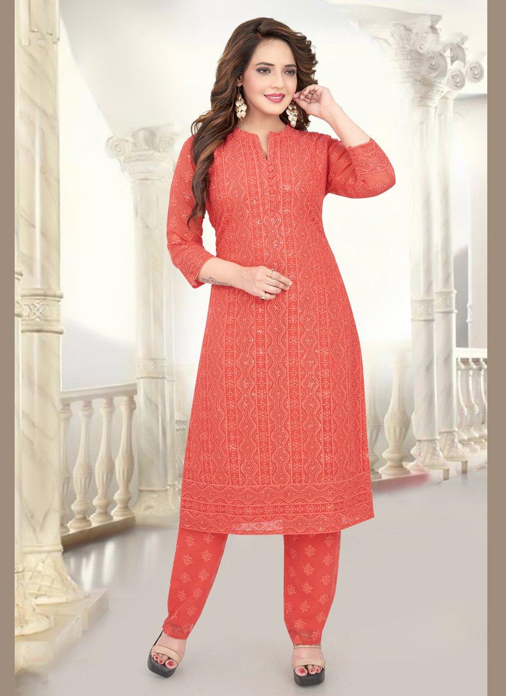 Peach Party Salwar Suit