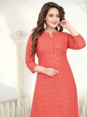Peach Party Salwar Suit