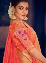 Peach Silk Classic Saree