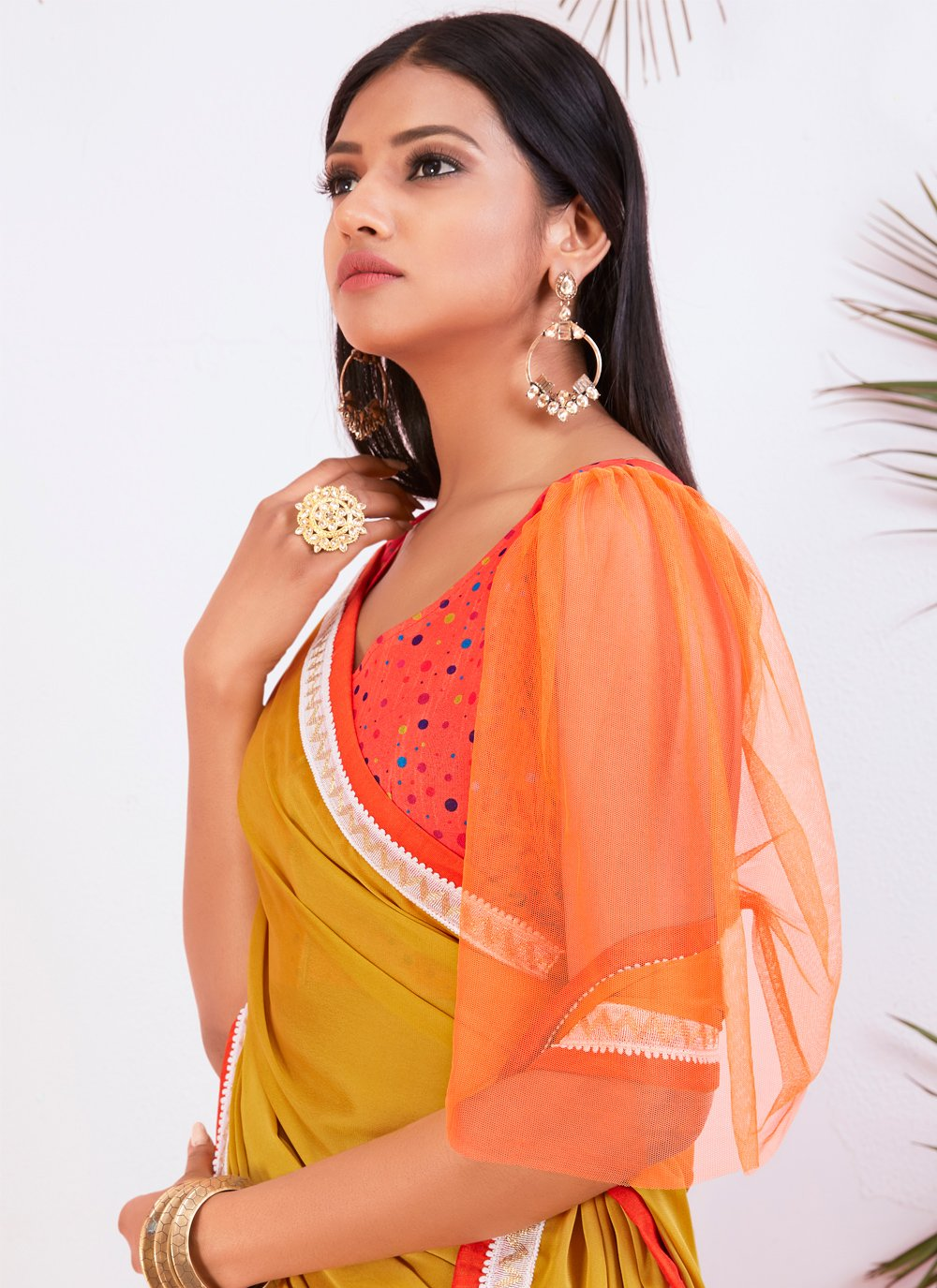 Peach Silk Embroidered Traditional Saree
