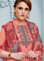 Peach Thread Party Salwar Kameez