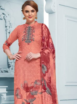 Peach Thread Party Salwar Kameez