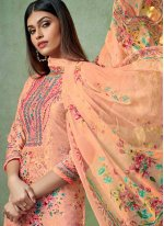 Peach Viscose Trendy Salwar Kameez
