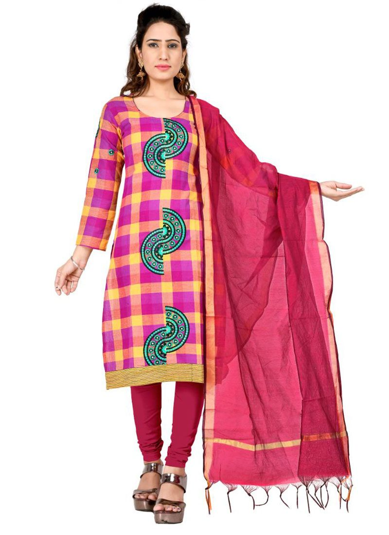 Pink and Yellow Festival Salwar Suit